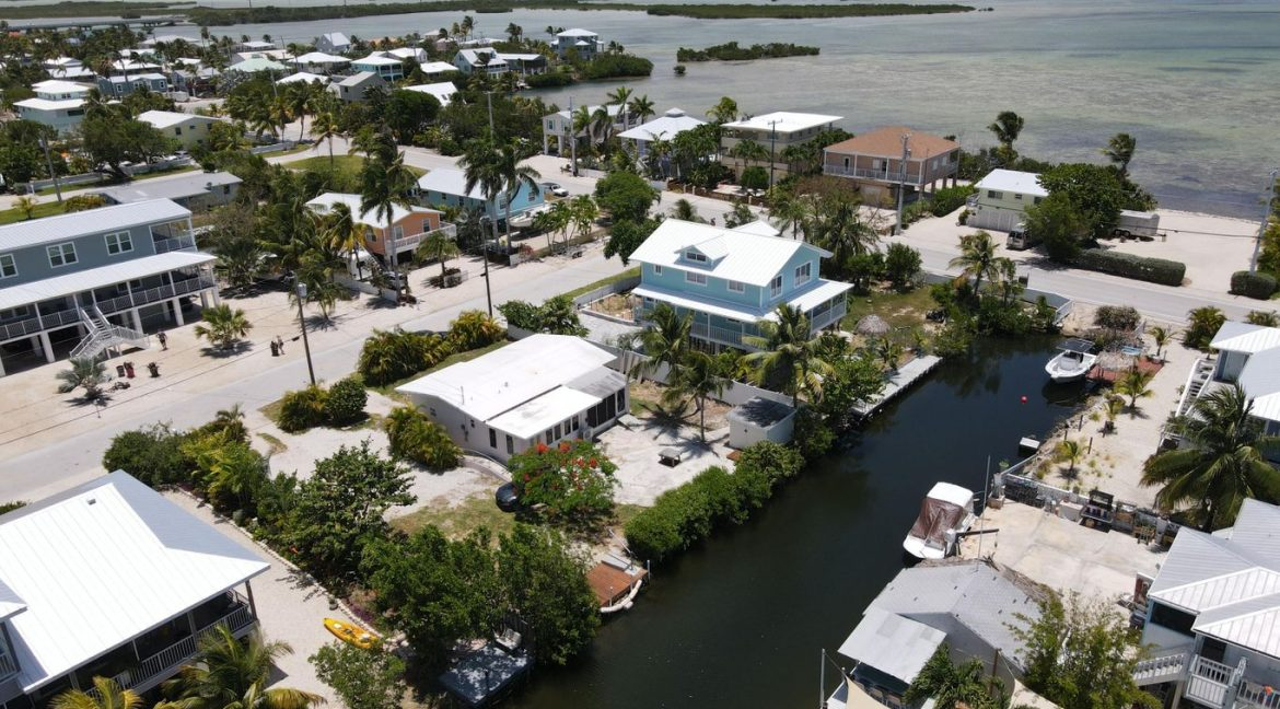 A great location, canal front ground level CBS home in a wonderful Ramrod Key neighborhood.